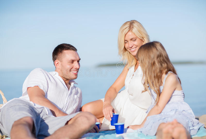 Download Happy Family Having A Picnic Stock Photo - Image of daughter, happy: 34393976