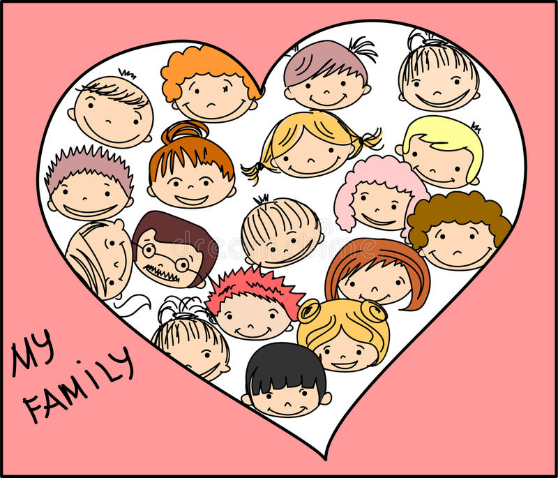Download Happy Family Holding Hands,vector Stock Vector - Image: 22114796