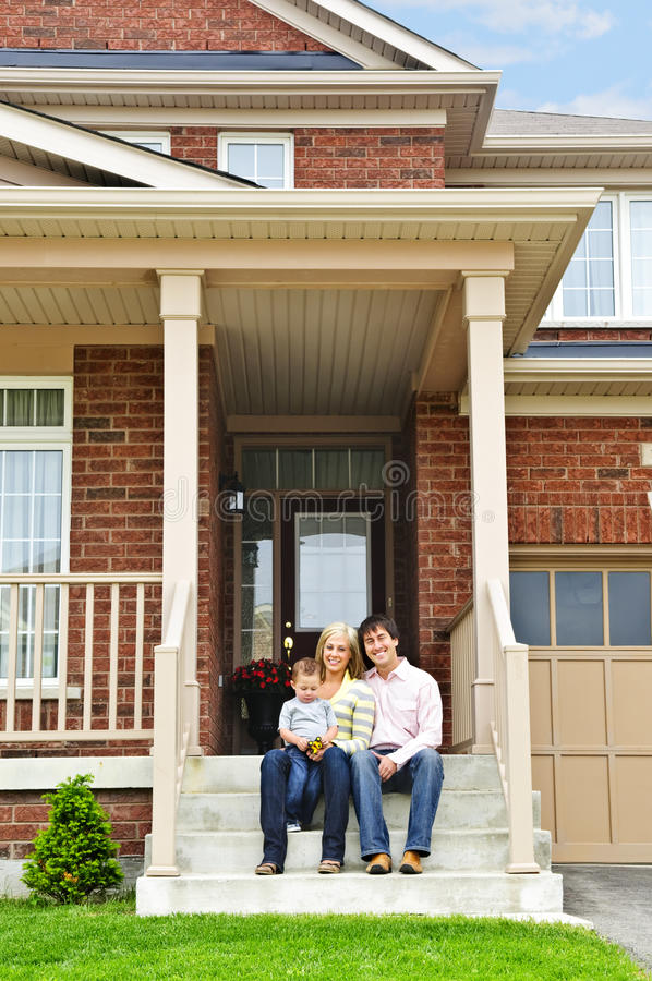 Download Happy family at home stock image. Image of door, owner - 10565957