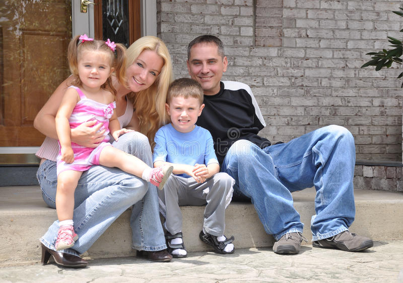 Download Happy Family at Home stock photo. Image of group, outdoors - 26290770