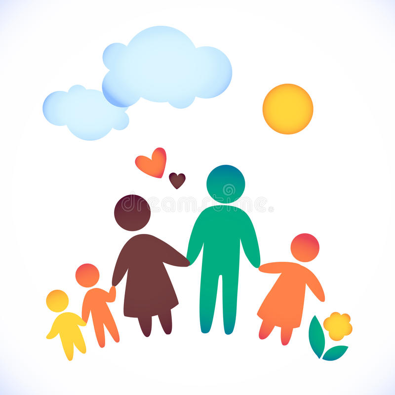 Mom And Dad And Kids Clip Art