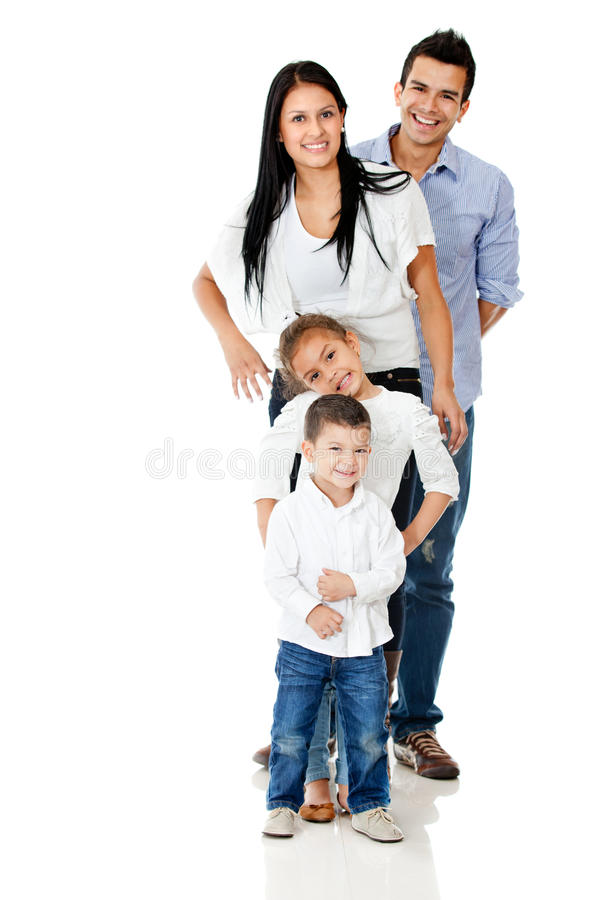 Download Happy family isolated stock image. Image of cute, mother - 23972751