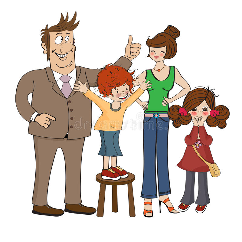 Download Happy Family Isolated On White Background Stock Vector - Image: 31949429