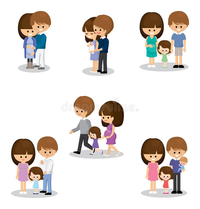 Happy family with kids royalty free stock photo