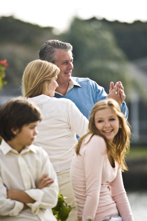 Happy family man royalty free stock photo