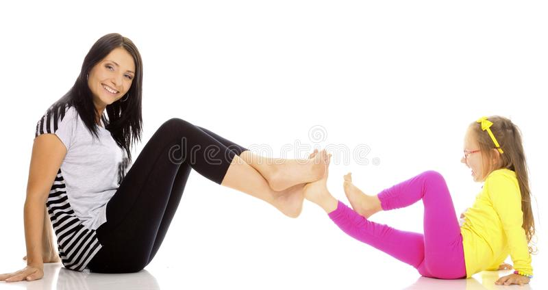 Download Happy Family Mother Playing With Her Daughter Stock Image - Image: 34408033