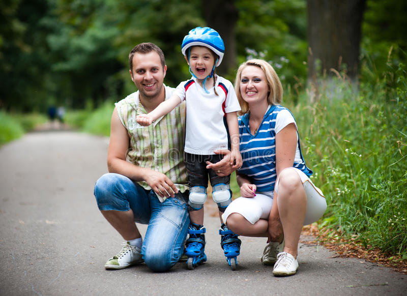 Download Happy family outdoor stock image. Image of female, caucasian - 14853683