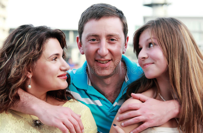 Download Happy family outdoors stock photo. Image of brown, 35 - 26571896