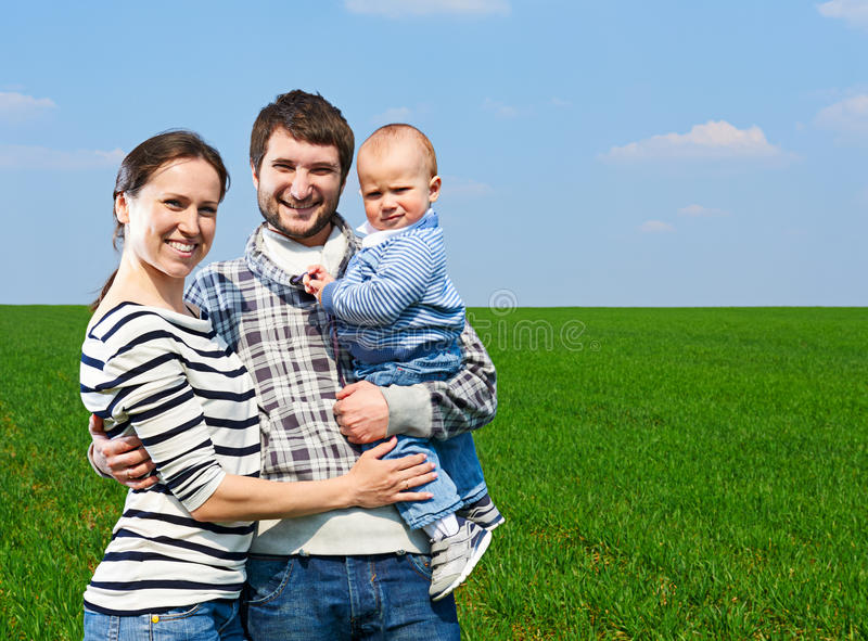 Download Happy Family At Outdoors Royalty Free Stock Photos - Image: 30695178