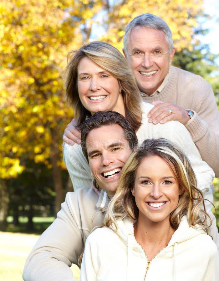 Download Happy family in park stock image. Image of generation - 11089389