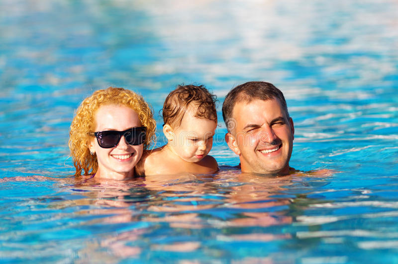 Download Happy Family In The Pool Stock Photos - Image: 33995503