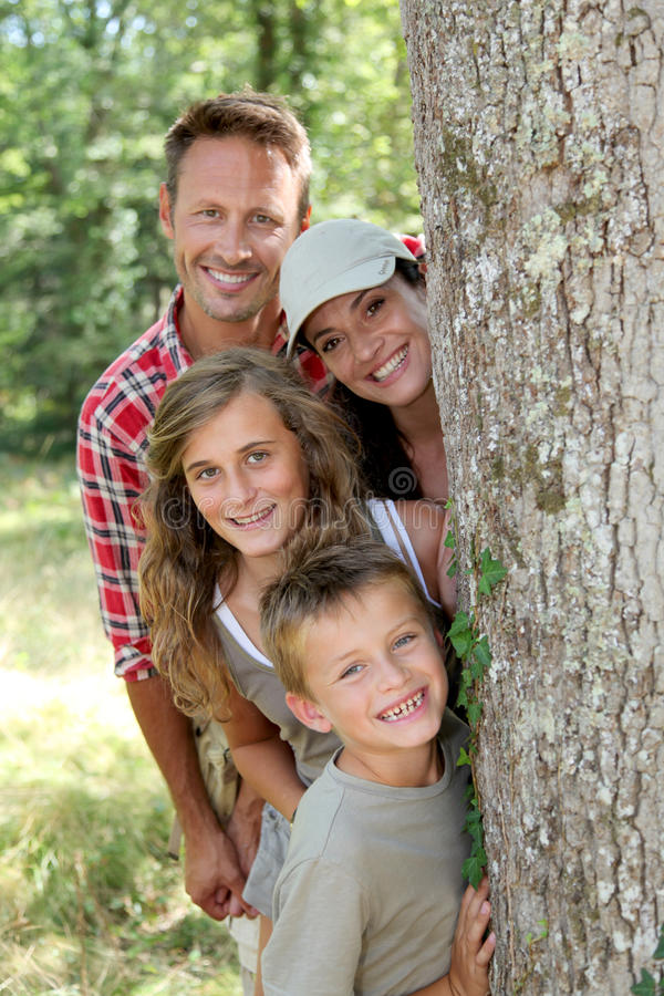 Download Happy family portrait stock image. Image of summer, hiding - 16281627