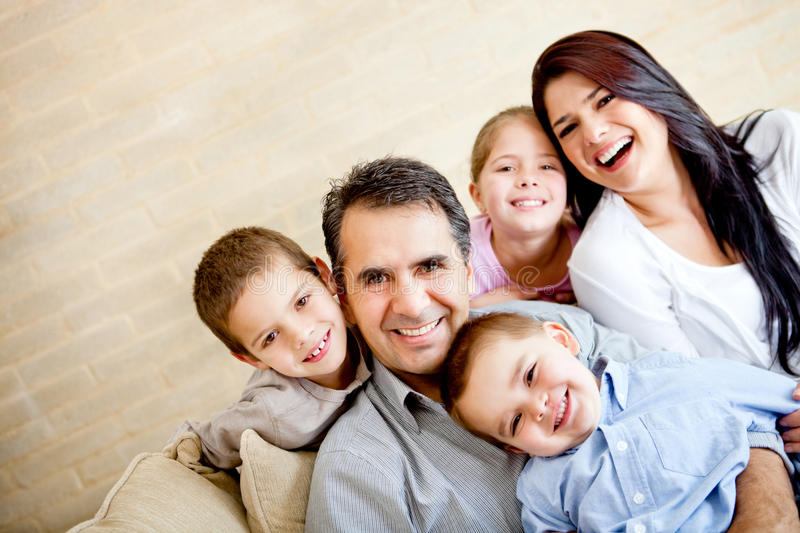 Download Happy family portrait stock image. Image of happy, indoors - 24076881