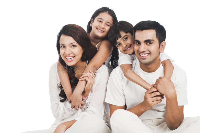 Happy family. Portrait of a family smiling