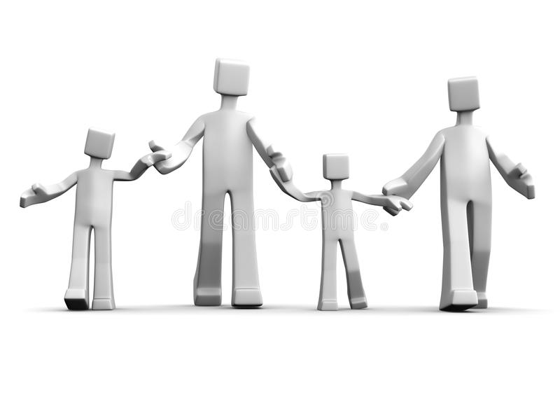 Download Happy Family Relationship Concept Stock Illustration - Image: 15417561