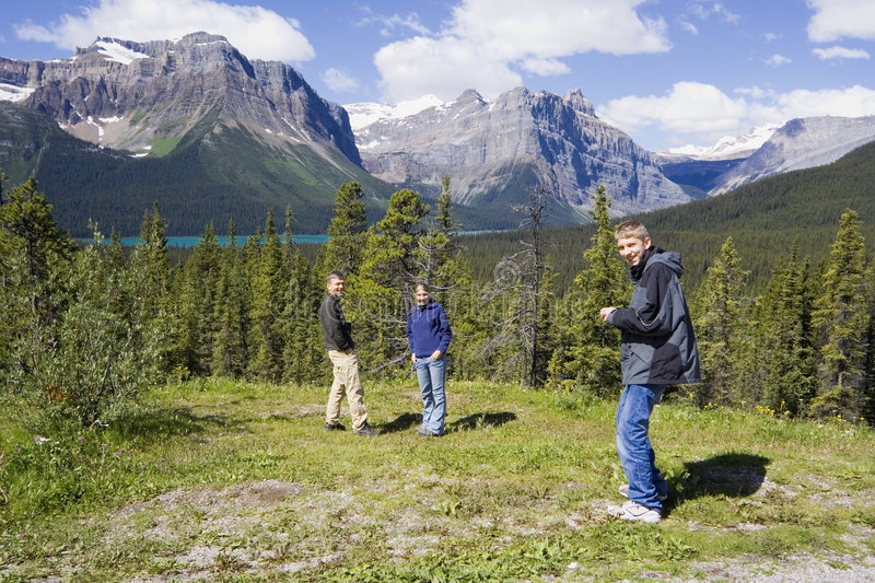 Download Happy Family In The Rockies Royalty Free Stock Photo - Image: 766785