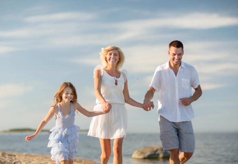 Download Happy Family At The Seaside Stock Image - Image: 34393939