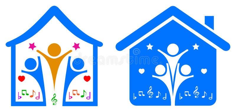 Happy family vector illustration