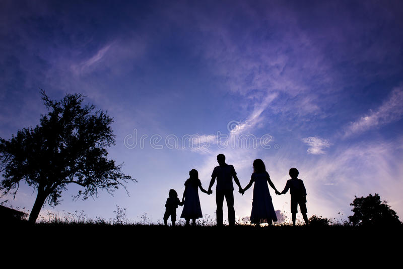 Download Happy family stock photo. Image of field, grass, group - 33401930