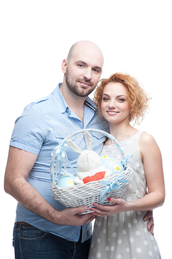 Download Happy family stock image. Image of eggs, basket, casual - 33116841