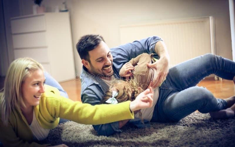 Happy family. royalty free stock photography