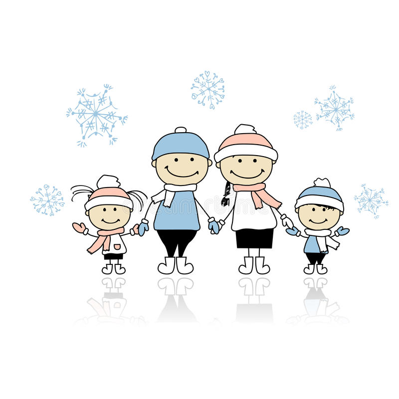 Happy Family Smiling Together, Christmas Holiday Stock Image