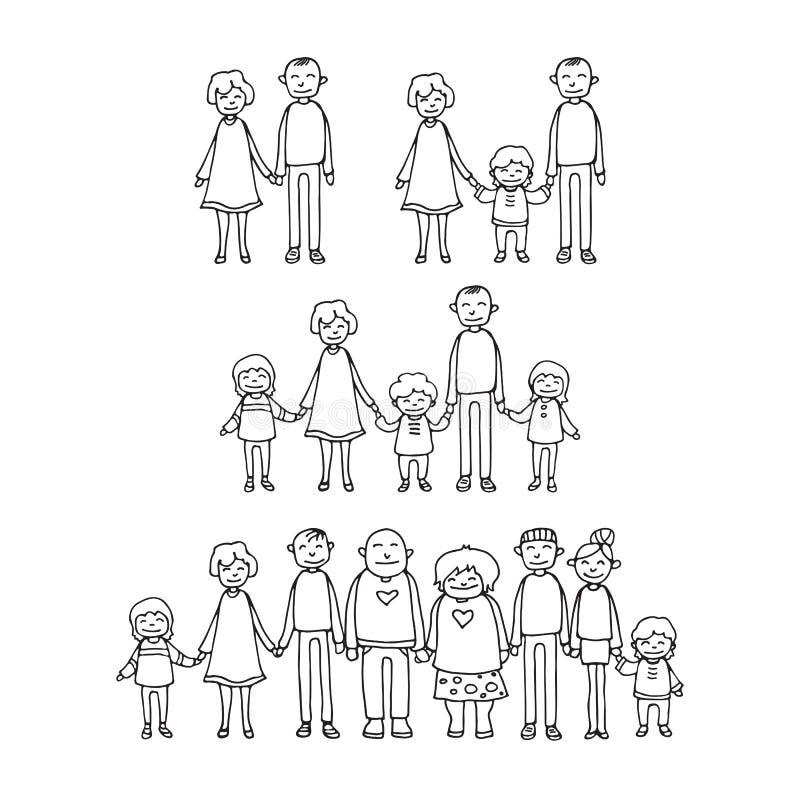 Happy family-03 stock illustration