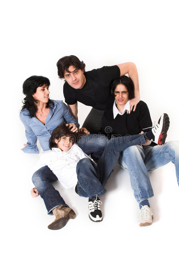 Download Happy family time stock photo. Image of beauty, pose, over - 2364184