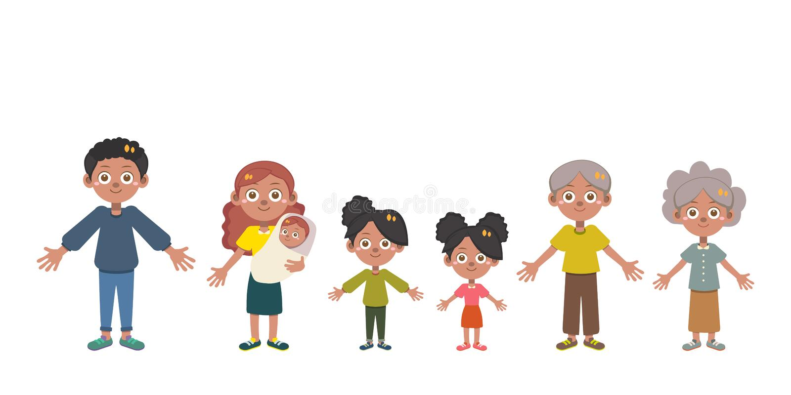 Happy family day vector isolated stock photography