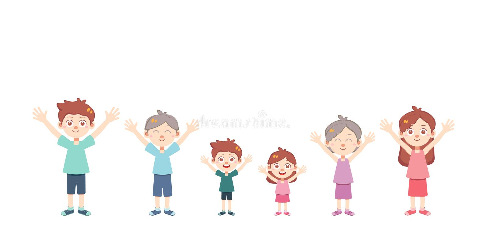 Happy family day vector isolated royalty free stock images