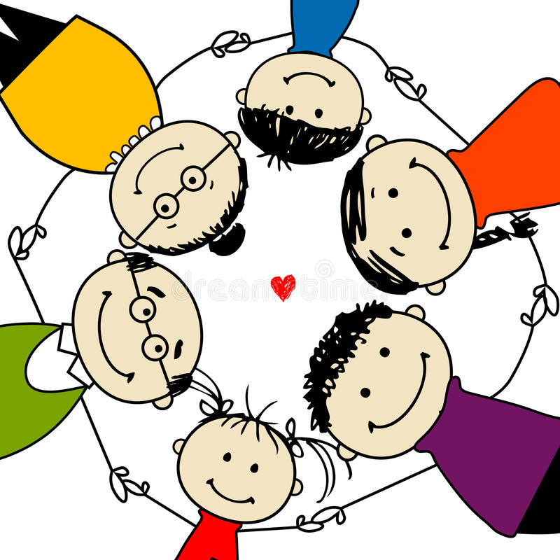 Download Happy Family Together, Frame For Your Design Royalty Free Stock Photography - Image: 22098187