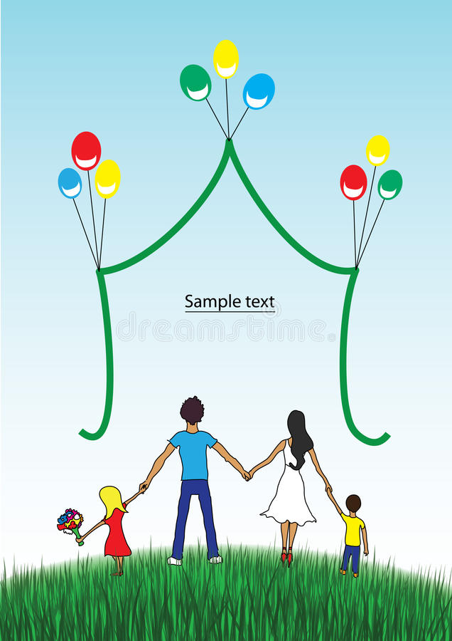 Download Happy Family Together On Nature Stock Image - Image: 24773591