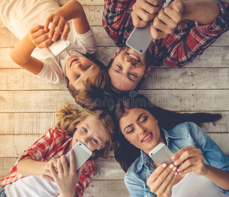 Happy family together royalty free stock photos