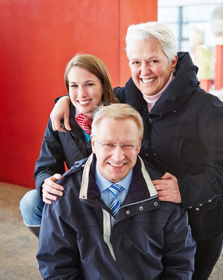 Happy family on tour royalty free stock photos
