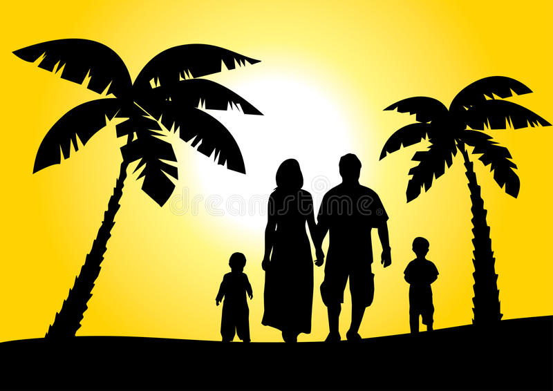 Download Happy family on vacation stock vector. Illustration of child - 17326416