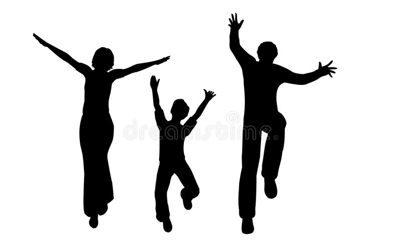 Download Happy family vector stock vector. Image of jump, human - 2053203