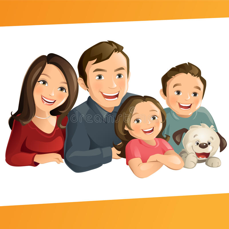Happy Family stock illustration