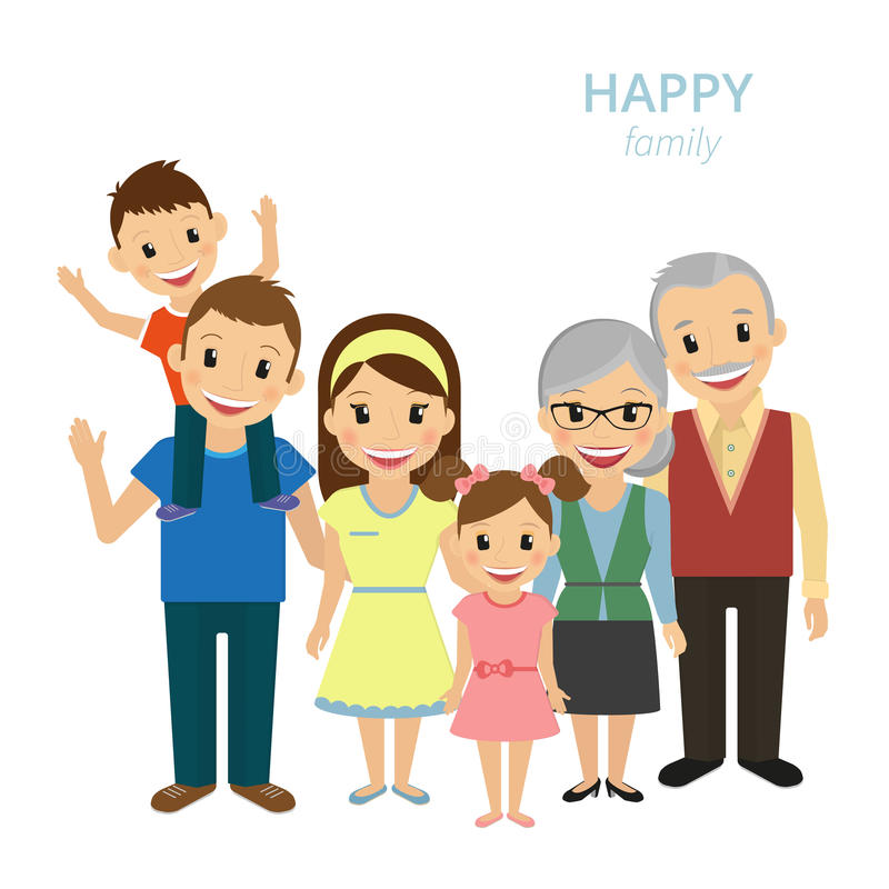 Happy family royalty free illustration