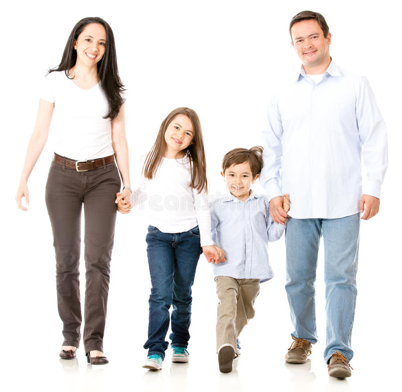 Download Happy family walking stock image. Image of beautiful - 27164535