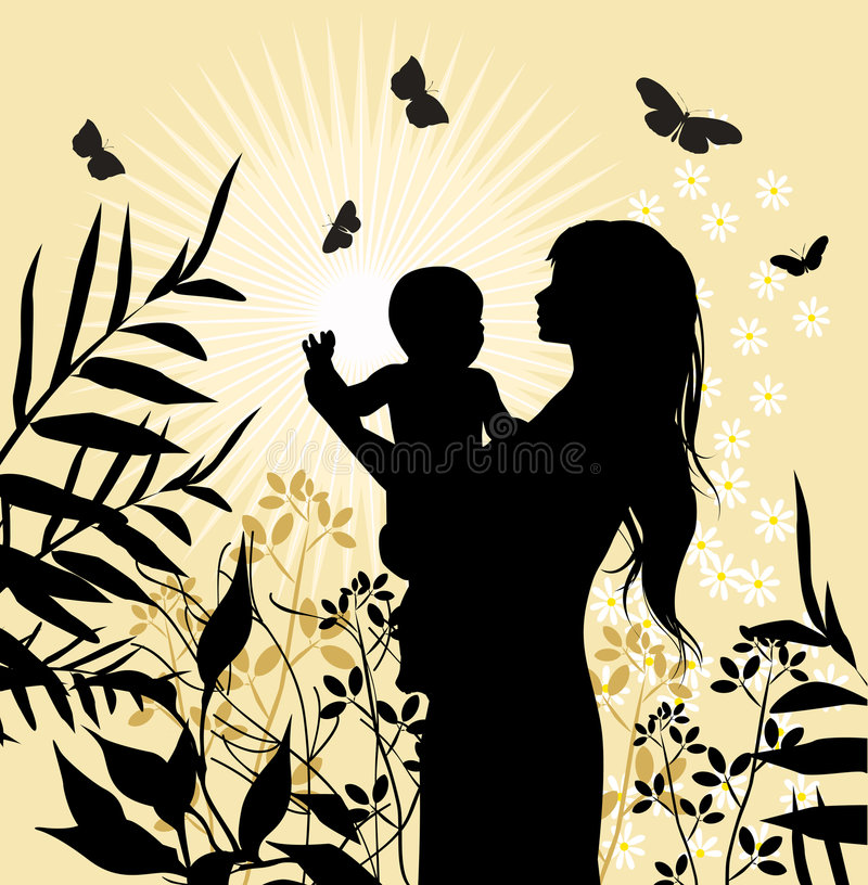 Download Happy Family - Women And Her Child. Stock Vector - Illustration: 6482185
