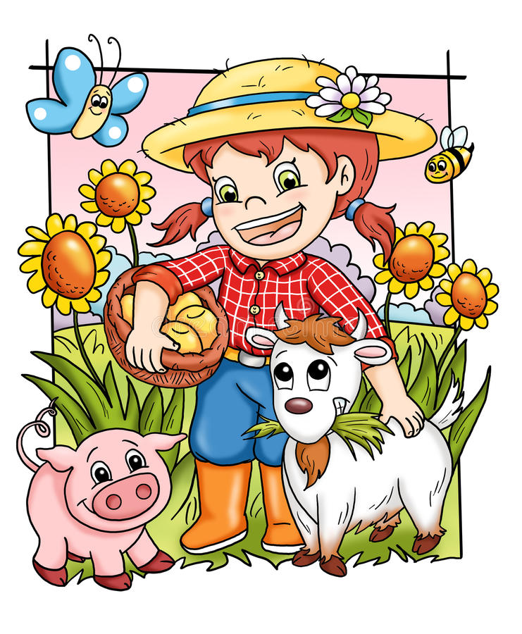 Happy farm royalty free stock photos