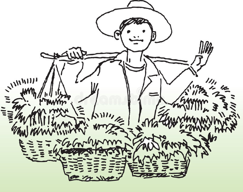 Happy farmer vector illustration