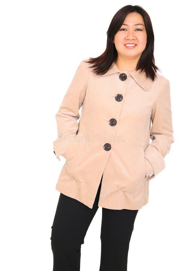 Happy Fashion Asian Model royalty free stock image