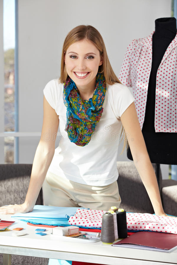 Download Happy Fashion Designer In Her Stock Photo - Image: 27003574