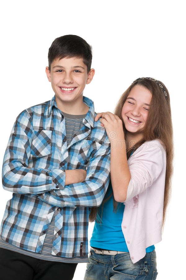 Happy fashion kids royalty free stock photo