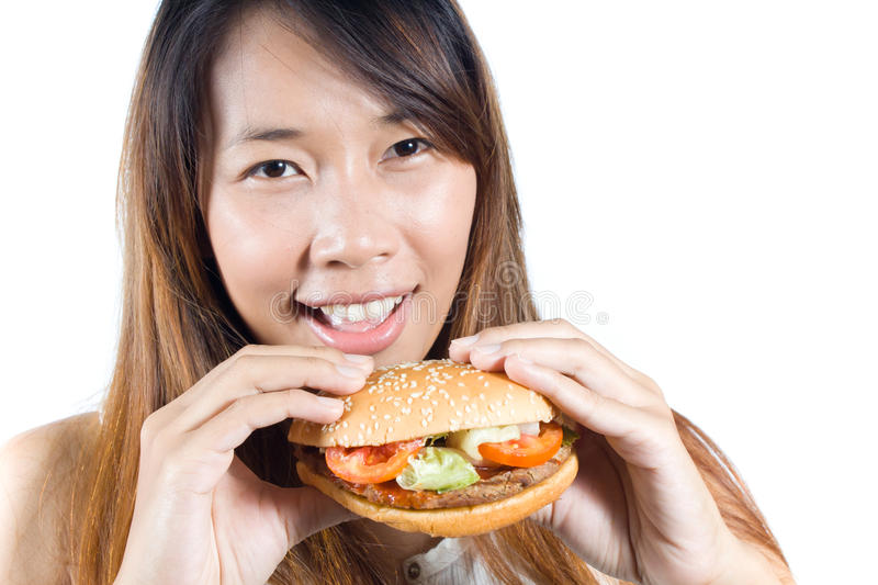 Happy fastfood royalty free stock images