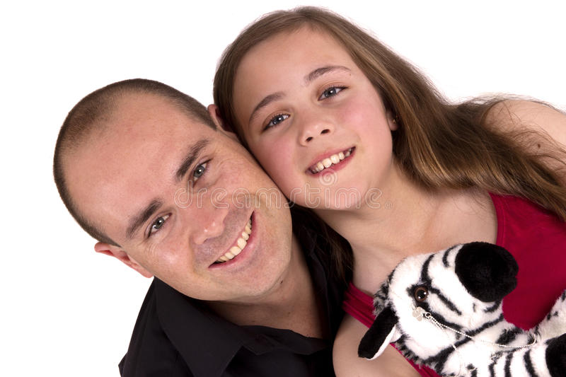 Happy father and daughter stock photography