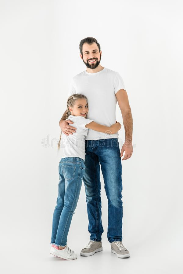 Happy father and daughter royalty free stock photo