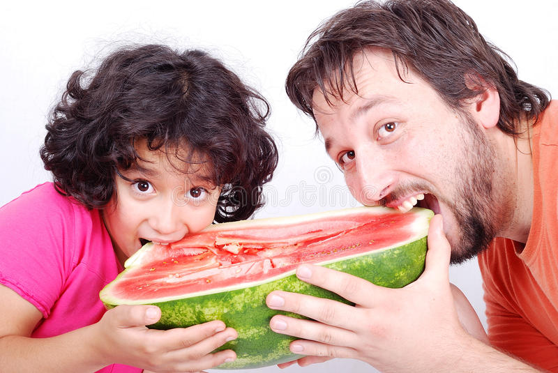 Download Happy father and  girl stock photo. Image of juicy, fresh - 13979216