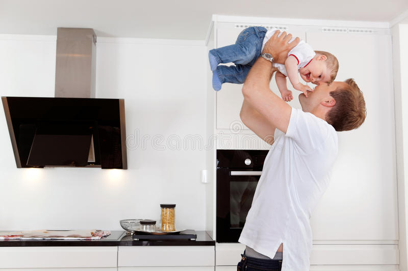 Happy father with his child stock photo